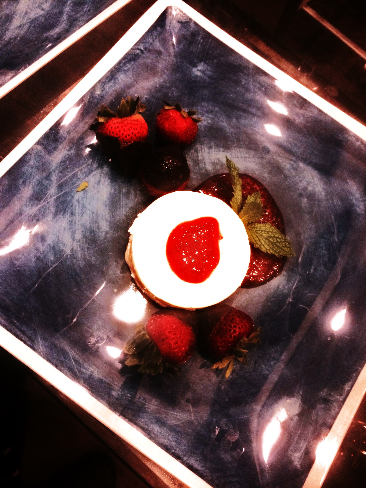 Panna Cotta with Chilli Strawberries